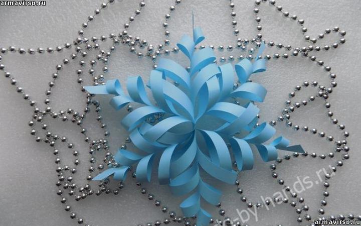 Снежинки своими руками из бумаги объемные фото